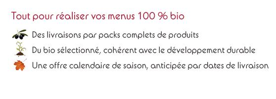 Savourer bio : Tout pour réaliser vos menus 100% bio